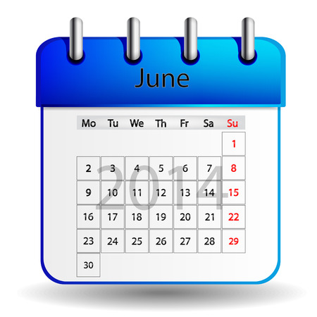 June calendar Stock Vector - 25298767