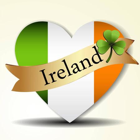 irish pride: The Irish flag Illustration