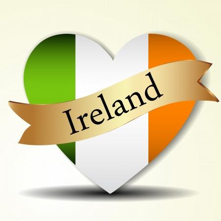 clover buttons: The Irish flag Illustration