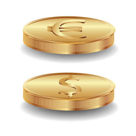 quot: Gold coins  Dollar and euro