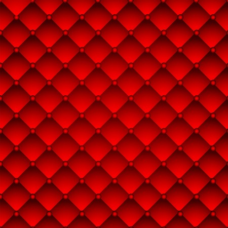 Red upholstery leather pattern background  Vector