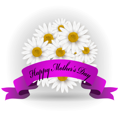 Mothers day card with flowers Vector