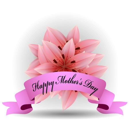 Bouquet de fleurs de lys roses