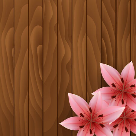 abloom: Flowers on wooden background