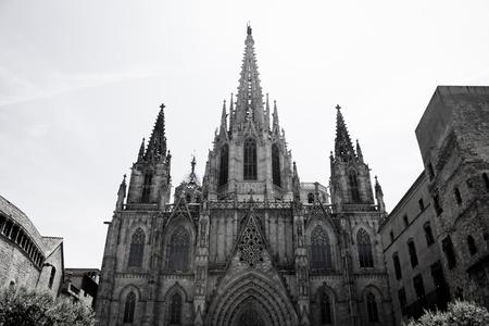 gotico: La catedral de Barcelona de Santa Eulalia en Barrio Gotico