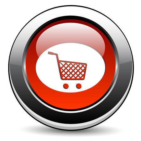 Shopping cart button Vector