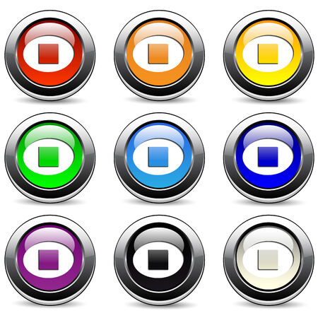 Stop buttons  Vector
