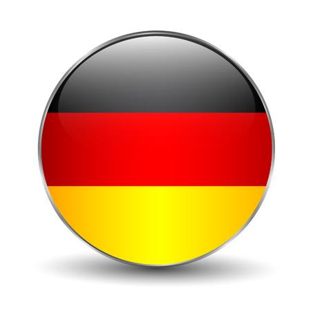 german ethnicity: Germany Flag Icon Illustration