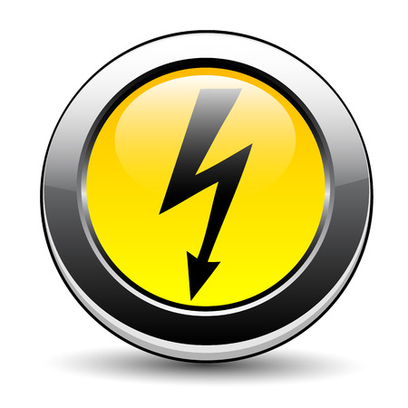 electroshock: label electricity hazard Illustration