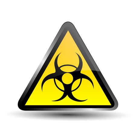 mortal danger: Biohazard sign