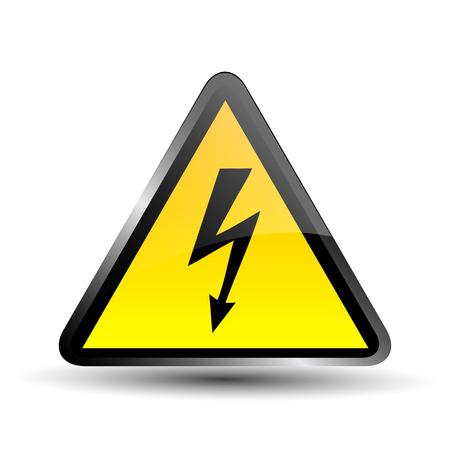 label electricity hazard Illustration