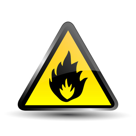 Flammable sign Vector