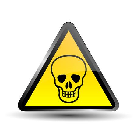 deadly: Deadly Danger Sign Illustration