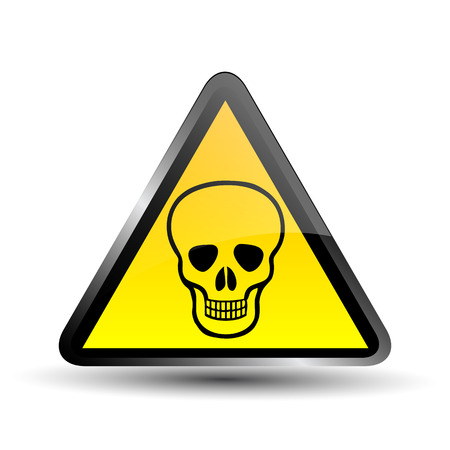 Deadly Danger Sign Illustration