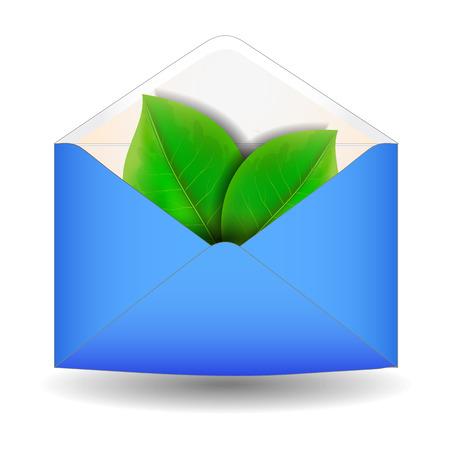 Envelope with leaf Vector