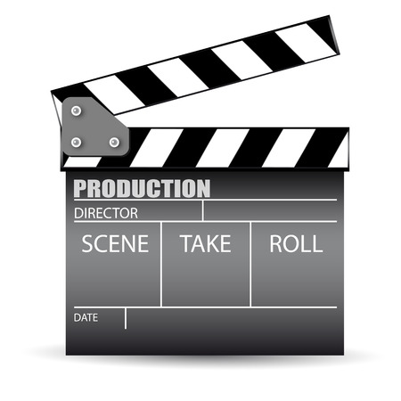 Cinema slate board Vector
