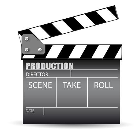 Cinema slate board Vector