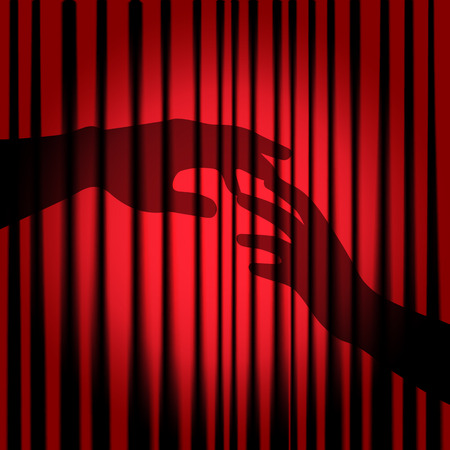 Silhouette of hands Vector