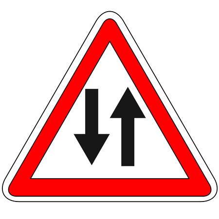 two way traffic: Two way traffic sign