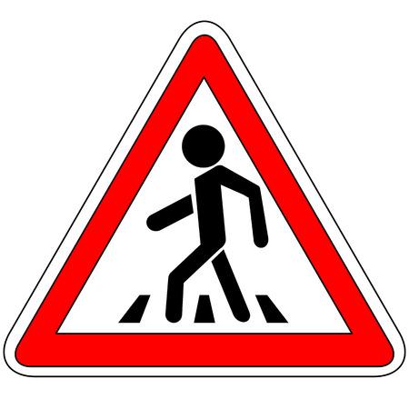 横断歩道の標識  イラスト・ベクター素材