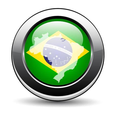 Brazil button Vector