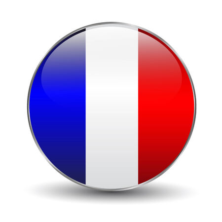France flag button Vector