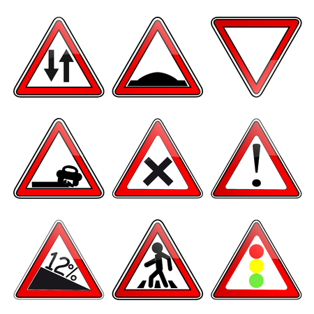 precedence: Road signs Illustration