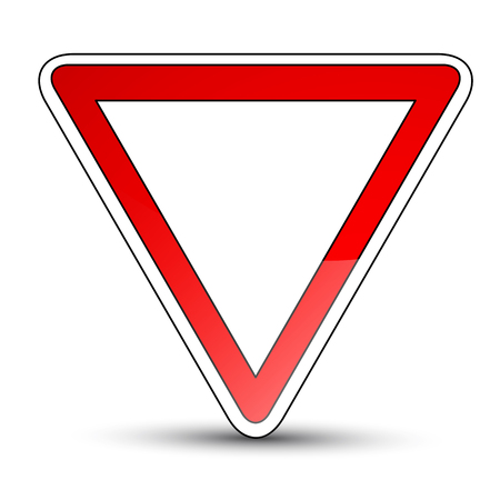not give: Yield sign