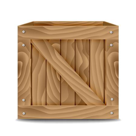Wooden box Ilustracja