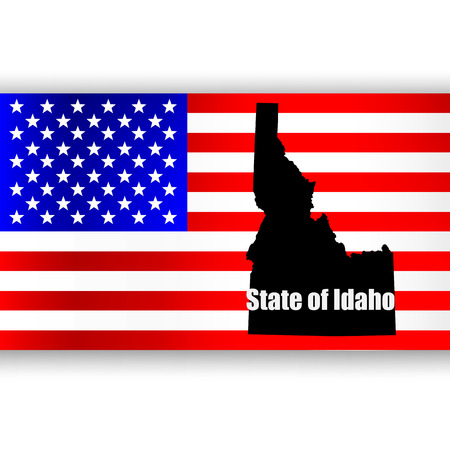 u s: Map of the U S  state of Idaho Illustration