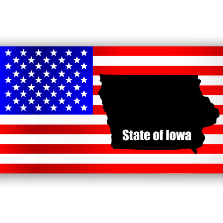 u s: Map of the U S  state of Iowa Illustration