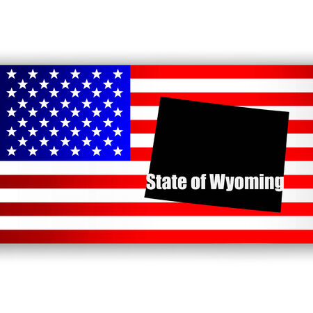 U S  state on the U S  map Wyoming Vector