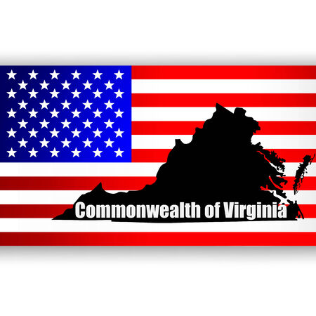 u  s: Map of the U S  state of Virginia