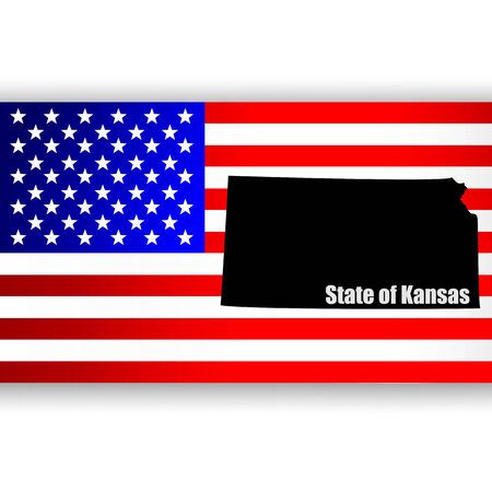 u  s: Map of the U S  state of Kansas