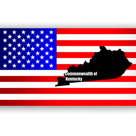 u  s: Map of the U S  state of Kentucky