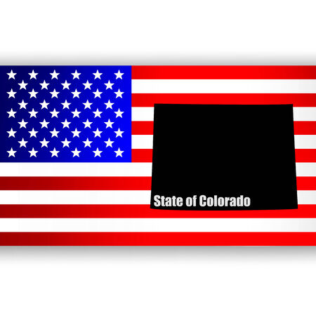 U S  state of Colorado on the map Vector
