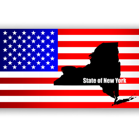 u  s: Map of the U S  state of New York