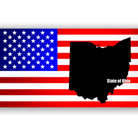 federation: Map of the U S  state of Ohio Illustration