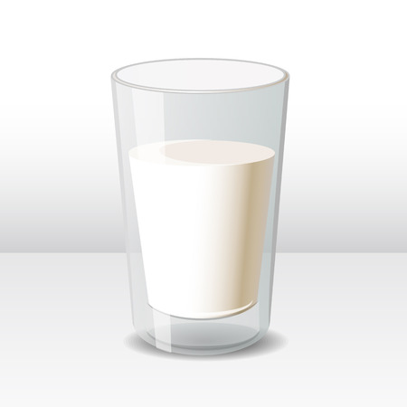 pasteurized: Glass of milk Illustration