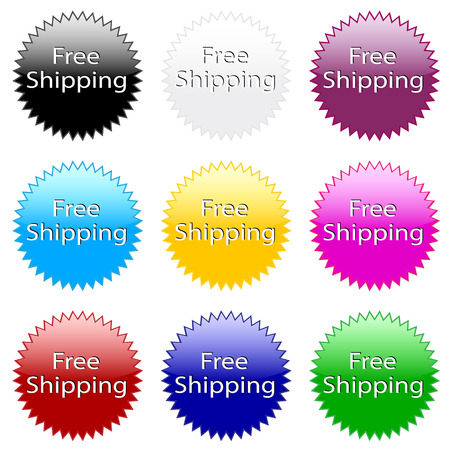 Free shipping ! Colorful website vector icon. Vector