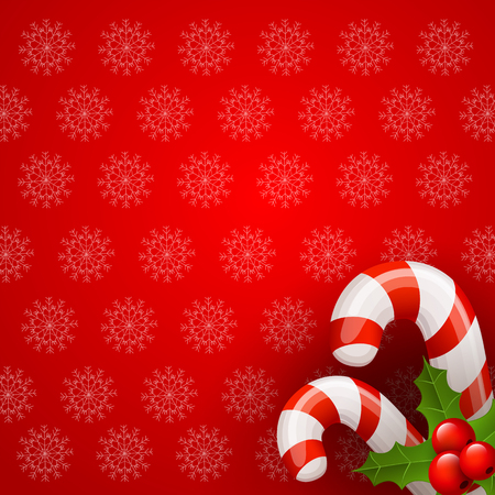 Christmas candy cane background Vector
