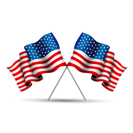 polo: cruzado de la bandera de EE.UU.