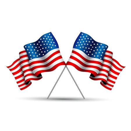 crossed Flag of USA