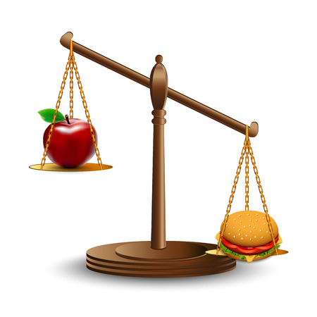 weighing scale: Healthy eating