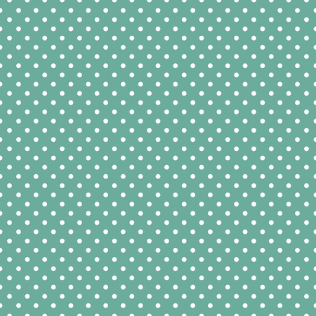 Polka dots on mint green background Vector