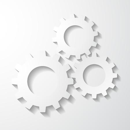 歯車のアイコン  イラスト・ベクター素材