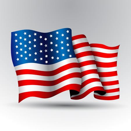 star spangled: American flag. Illustration