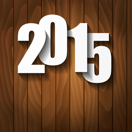 New Year concept with 2015 number Vector