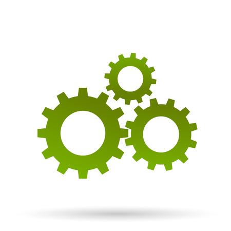 business gears: Green gears Illustration