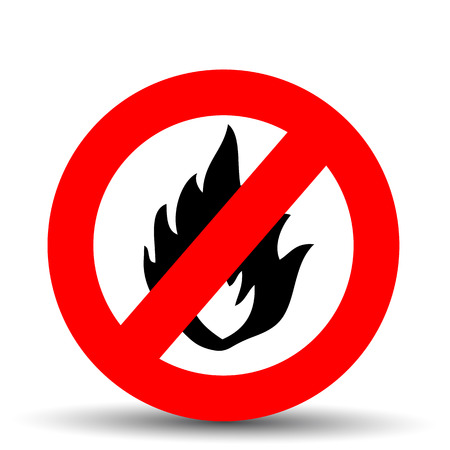 forewarning: No fire vector sign on a white background Illustration